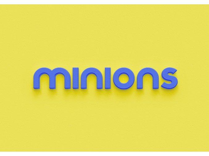 3D nápis Mimoni - 115 x 17 cm