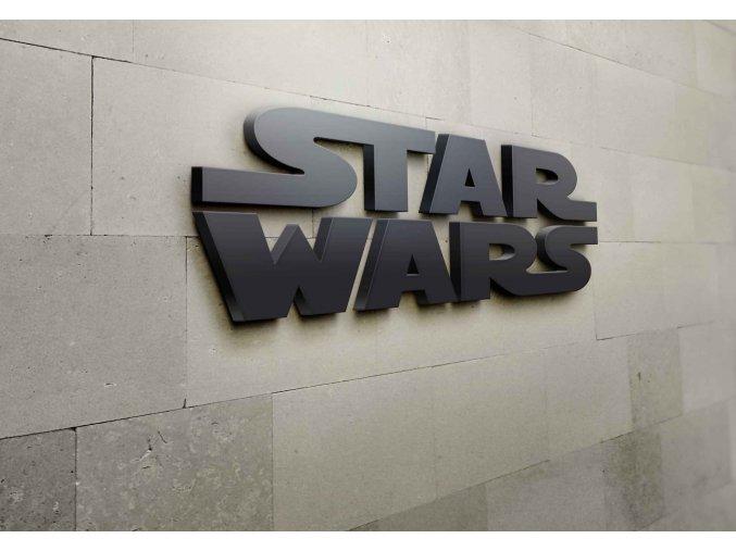 3D nápis star wars - 115 x 51,2 cm