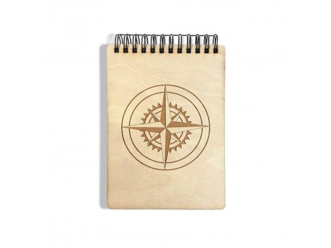 DŘEVĚNÝ POZNÁMKOVÝ BLOK MALÝ - kompas