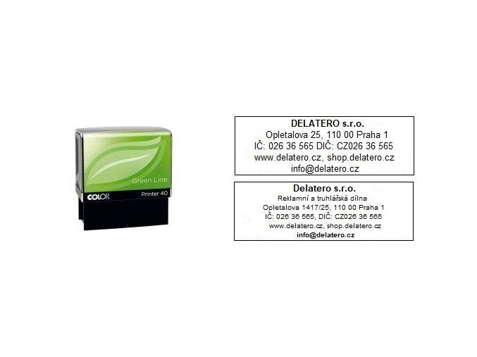 Razítko Printer 40 Green Line