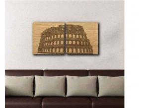 Dřevěný obraz Řím