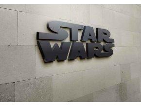 3D nápis star wars - 115 x 36 cm