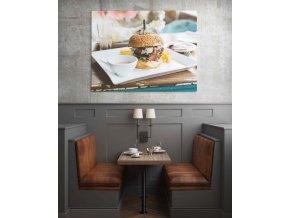 Obraz burger - 95 x 75 cm