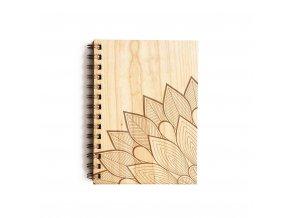 Dřevěný poznámkový blok - ornament 2